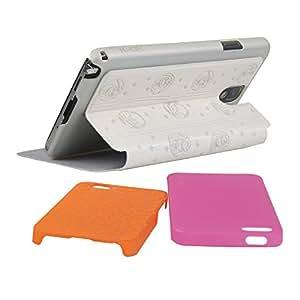 K-OK 三星 note3 熊出没电压皮套-白色 卡通熊出没系列电压手机套 赠送两个iPhone 5/5S/SE 熊出没手机壳