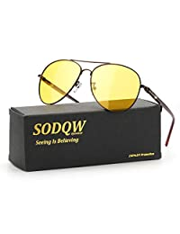 SODQW 女士偏光猫眼太阳镜,镜面猫眼太阳镜,适合驾驶钓鱼 - 金属框架 UV400 防护