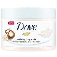 Dove多芬 沐浴磨砂膏 去角質 澳洲堅果 &米漿 4件裝 (4 x 225 ml) 德文英文包裝隨機發貨