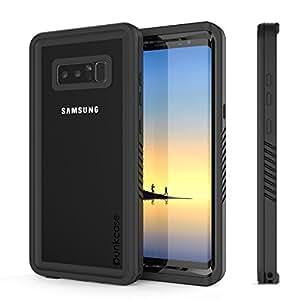 Galaxy Note 8 防水手机壳,Punkcase [极限系列] [超薄贴合] [IP68 认证] [防震] [防震] [防尘]装甲盖/内置屏幕保护膜适用于三星 Galaxy Note 84334992468 黑色