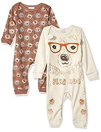 Quiltex 男童小熊图案可爱新奇连体服 2 件套