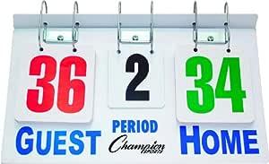 Champion Sports Deluxe Wrestling Flip-A-Score Scoreboard (Green/Red/Black/White)