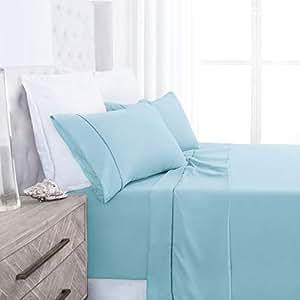 beckham *店系列豪华软拉丝2100系列超细纤维床单套装–防*