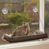 K&H Pet Products Ez Kitty Sill Deluxe 带垫枕,巧克力色
