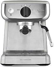 Breville 铂富 CF125X Barista Mini 咖啡机 拿铁和卡布奇诺 2 升水箱 牛奶泡机 意大利泵 不锈钢