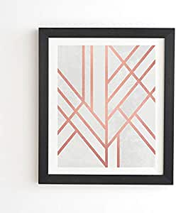 "Elisabeth Fredriksson 装饰玫瑰金镶框墙壁艺术 黑色边框 11"" x 13"" 62679-frwa06"