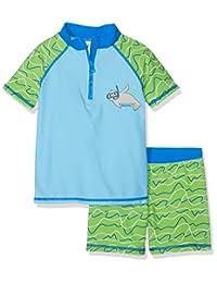 Playshoes 海豹图案防紫外线男童泳衣套装,泳裤 蓝色 110/116