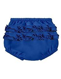 City Threads 女婴可重复使用褶皱游泳尿布套防漏游泳