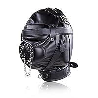 Chodx 全皮套插头性面具 - 黑色