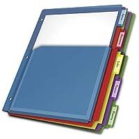 Cardinal Expanding Pocket Poly Divider, 5-Tab, Multi-Color (84012CB)