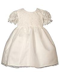 Heritage Lacy - 复古白色短袖连衣裙 古典白色 3-6 mths