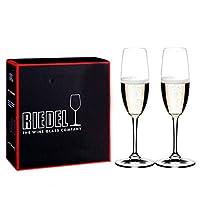 Riedel 礼铎 Accanto系列 290ml香槟杯 490/08S 水晶玻璃透明高脚葡萄酒杯 2只礼盒装(亚马逊自营商品, 由供应商配送)