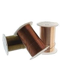 Beadsmith 丝线元素颜色分类 Antique Copper-Vintage Bronze-Rose Gold 26 Gauge NTW-COLOR-ASSORTMENT
