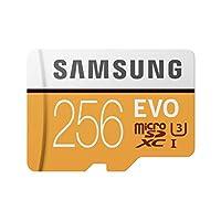 Samsung MB-MP256GA/AM 256GB 100MB/s (U3) MicroSDXC EVO Memory Card with Adapter
