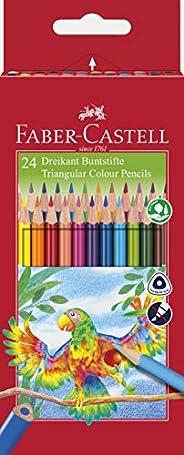 Faber-Castell辉柏嘉 116544 - 彩色铅笔三棱形,24支,纸盒装 24er