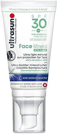 Ultrasun 优佳 脸部专用防晒霜 SPF30,轻薄矿物质,温和防晒,适合敏感肌肤,40毫升