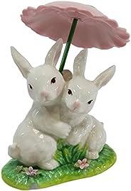 Cosmos Gifts 20877 Ceramic Rabbit Figurine, 4-1/4-Inch