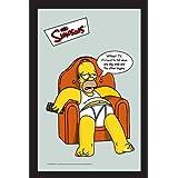 帝国海报 辛普森 Couch 538925 印花镜子 带木质外观塑料框 20 x 30 厘米