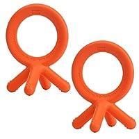 Comotomo Silicone Teether Bundle, Orange 2 Pack