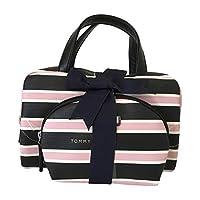 Tommy Hilfiger 2 件套化妆包套装化妆包粉红色黑色条纹