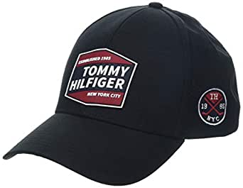 Tommy Hilfiger 汤米·希尔费格 男士棒球帽 黑色 (Black 002) 均码