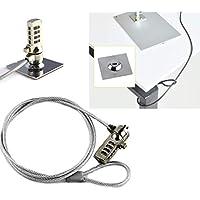 DPC Kensington 兼容,笔记本电脑电缆锁和*线,适用于PC、笔记本电脑和其他设备(钢质,灰色) 1.2m (~4 feet)
