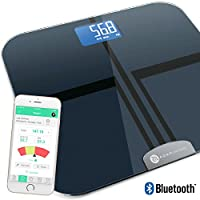 Smart Scale Digital LCD Display - Bluetooth Step On Technology, Simple App For The Best Wireless Health, Fitness Analyzer. Measure, Monitor Weight, BMI, Body Fat, Muscle, Bone Mass, Body Water & BMR