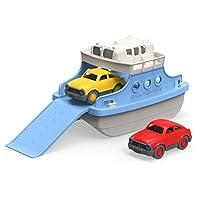 Green Toys 渡輪 帶迷你汽車 浴缸玩具 藍色/白色