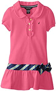 Nautica Little Girls' Pique Polo Dress with Gold But