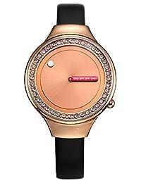 ELLE 法国品牌  石英女士手表 创意概念时尚潮流 EL20107S04C(亚马逊自营商品, 由供应商配送)