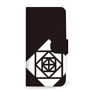 MITAS 智能手机保护壳翻盖型玫瑰几何图案简约  D 19_INFOBAR A03 (KYV33)