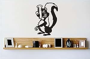 乙烯基设计 1 Zzz 421 装饰品骷髅动物卡通图像墙贴,30.48 x 45.72 厘米,黑色
