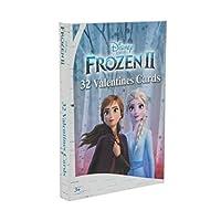 Disney 冰雪奇缘 2 张情人节卡片,适合学校课堂学校派对 32 张卡片