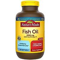 Nature Made 魚油 1000毫克軟膠囊,250粒,有利于心臟(包裝可能會有所不同)