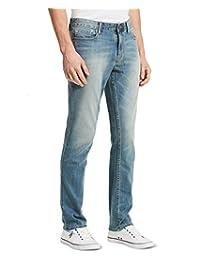 Calvin Klein 卡爾文·克萊恩 男士修身直筒褲