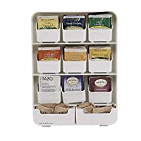"Mind Reader""Baggy""茶包架和调味整理器,黑色 白色 TBORG-WHT"