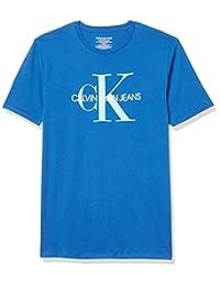 Calvin Klein 男孩经典 CK 标志圆领 T 恤