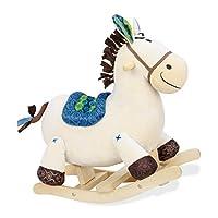 B.Toys 比乐 摇摇马 木摇马 木质毛绒摇椅玩具18个月+ BX1512Z