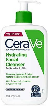 CeraVe 保湿洗面奶| 16盎司/473毫升| 日常洁面乳,适合干性皮肤| 无香料