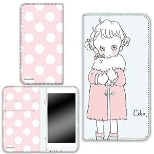 caho 保护套双面印花翻盖外套与少女手机保护壳翻盖式适用于所有机型  コートと少女B 21_ LG X screen LGS02