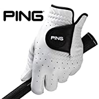 PING Tour 男士手套单色高级 Cabretta 皮革 Micro-Pur 技术