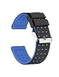 Lwsengme 硅胶快速释放 - 选择颜色和宽度(18 毫米,20 毫米,22 毫米)- 软橡胶表带