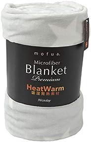 mofua 毛毯 高级超细纤维 加热系列 星星花灰色 シングル 601001Q7