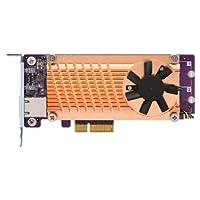 QNAP QM2-2P10G1TA 2 插槽 Pcie 網絡擴展卡,適用于 M.2 Pcie Nmve SSD,帶 1 個 10GBASE-T 端口