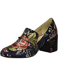 Kenneth Cole New York Daphne 女士粗跟高跟鞋 *蓝(Navy Floral) 7 M US
