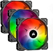 Corsair CO-9050065-WW HD 系列 HD120 120 毫米低噪音高压可单独编配 RGB LED 表壳 风扇CO-9050094-WW SP120 RGB PRO Triple Pack with L