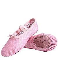 Nexete 皮鞋分离式鞋底拖鞋平底芭蕾舞鞋学步女童男童童