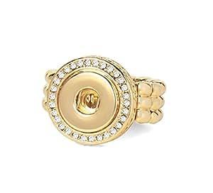 姜黄色按扣小号(模制)金钻弹力戒指 GP95-30 可互换珠宝配件
