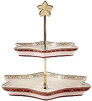 "Villeroy & Boch 德国唯宝 冬季烘焙屋 货架式托盘""圣诞树"" 优质搪瓷,白/"