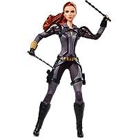 Barbie 漫威工作室黑寡婦娃娃,11.5 英寸(約 29.2 厘米),可擺出紅發,身穿盔甲緊身衣褲和靴子,是收藏家的禮物